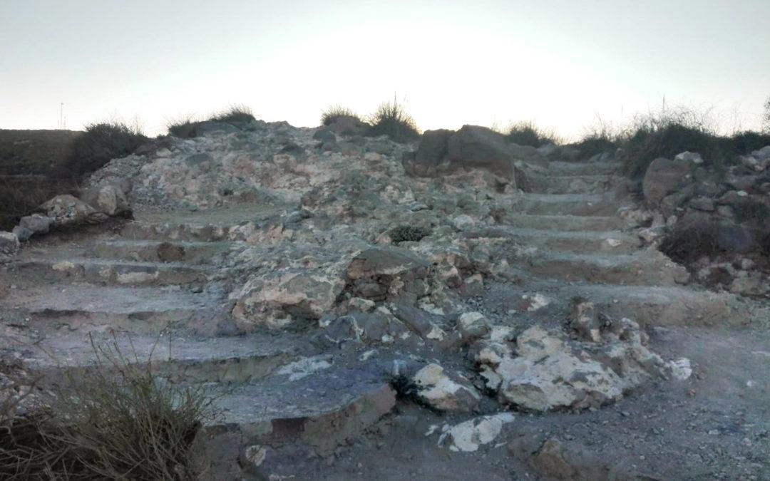 Escalera a la playa de Los Muertos